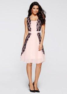 Платье (цвет шампанского/черный) Bonprix
