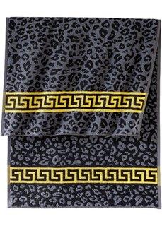 Полотенце Лео (черный/серый) Bonprix