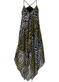 Пляжное платье (оливково-зеленый с рисунком зебры) Bonprix