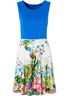 Трикотажное платье (лазурный с рисунком/с принтом) Bonprix