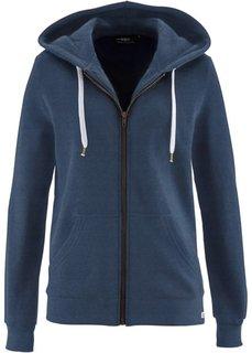 Трикотажная куртка (темно-синий меланж) Bonprix