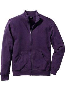 Трикотажная куртка стандартного покроя (темно-лиловый) Bonprix
