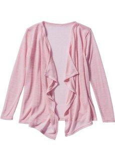 Кардиган с эффектом запаха, Размеры  116/122-164/170 (розовая пудра/цвет белой шерсти) Bonprix