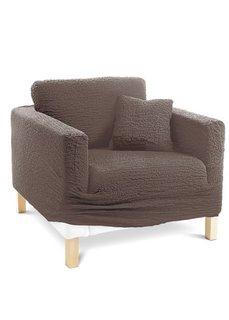 Чехол для мягкой мебели Кринкл (коричневый) Bonprix
