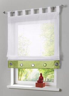 Римская штора Майра (1 шт.), петли (зеленый) Bonprix