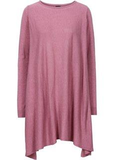 Удлиненный пуловер (дымчато-розовый меланж) Bonprix