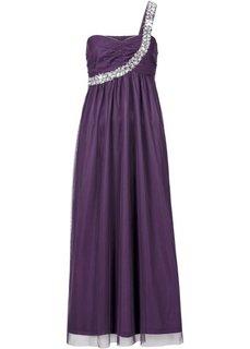 Макси-платье на одно плечо (виноградный) Bonprix