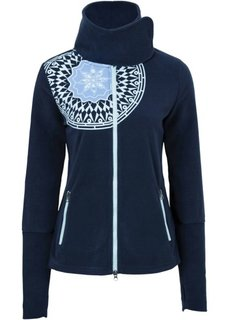 Флисовая куртка с принтом (темно-синий с рисунком) Bonprix