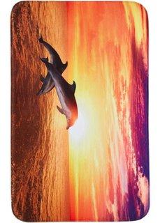 Коврик для ванной Дельфин из пены-мемори (оранжевый) Bonprix