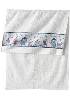 Полотенце Побережье (белый) Bonprix