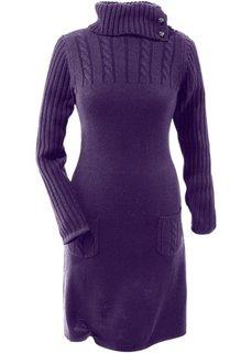 Вязаное платье (темно-лиловый) Bonprix