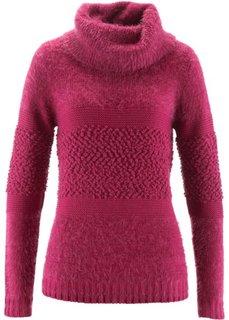 Пуловер с высоким воротом (свекольный) Bonprix