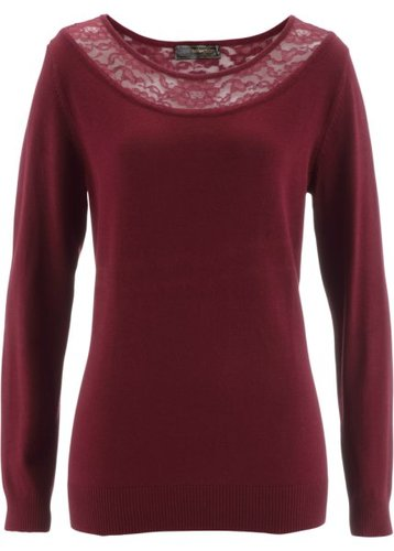 Пуловер (кленово-красный)