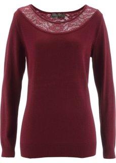 Пуловер (кленово-красный) Bonprix