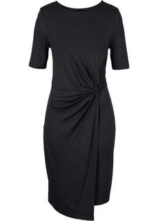 Абсолютный хит: платье с драпировкой в узел (черный) Bonprix