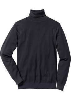 Пуловер Regular Fit с высоким воротником (черный) Bonprix