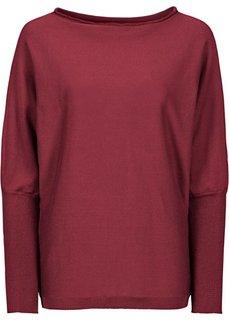 Пуловер (темно-красный) Bonprix