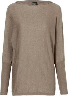 Пуловер (светло-коричневый меланж) Bonprix