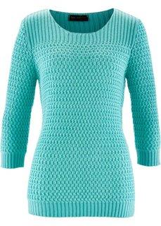 Пуловер (бирюзово-зеленый) Bonprix