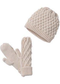 Комплект: шапочка и перчатки (телесный) Bonprix