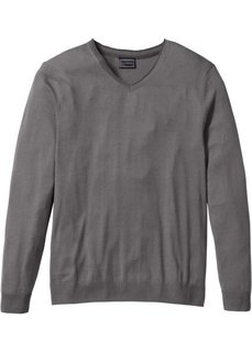 Пуловер Regular Fit с кашемиром (дымчато-серый) Bonprix