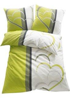 Постельное белье Амели, линон (зеленый) Bonprix