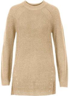 Вязаный пуловер (бежевый) Bonprix