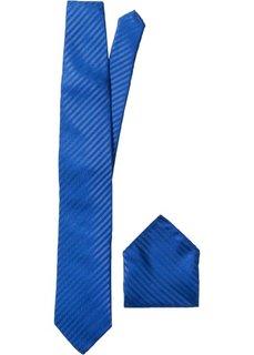 Галстук + платок (2 изд.) (синий) Bonprix