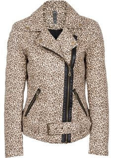 Пиджак леопардовой расцветки (леопардовый черный/светло-коричневый) Bonprix
