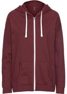 Обязательный элемент гардероба: свободный худи в стиле бойфренд (темно-бордовый) Bonprix