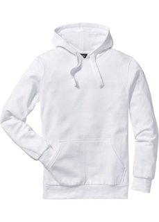 Толстовка стандартного прямого кроя regular fit с капюшоном (белый) Bonprix