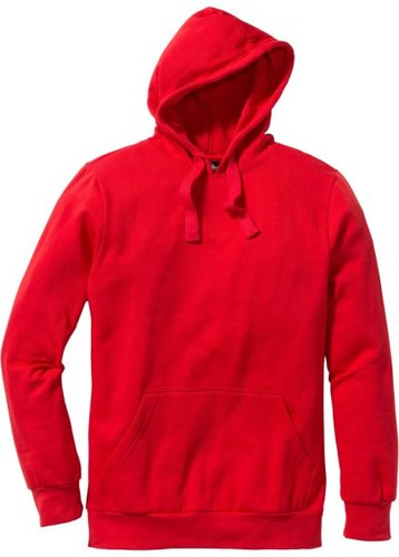 Толстовка стандартного прямого кроя regular fit с капюшоном (красный)