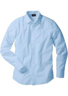 Рубашка стретч зауженного покроя (нежно-голубой) Bonprix