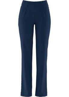 Прямые брюки стретч без застежки, cредний рост (N) (темно-синий НОВИНКА) Bonprix