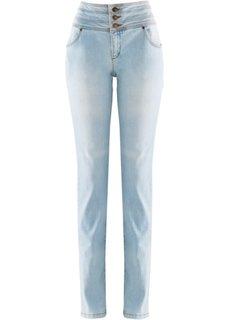 Джинсы-трубы супер-стретч нет живота, низкий рост (K) (нежно-голубой) Bonprix