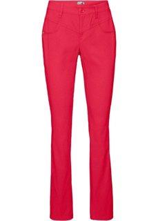 Прямые брюки стретч (красный) Bonprix