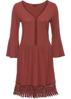 Платье в стиле бохо с аппликацией (марсала) Bonprix
