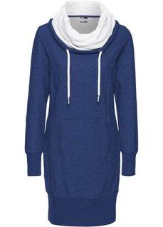 Трикотажное платье с длинным рукавом (меланжевая ночная синь) Bonprix