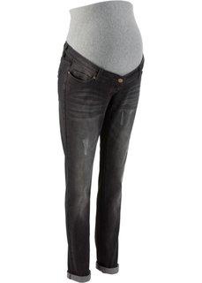 Для будущих мам: джинсы Boyfriend (черный «потертый») Bonprix