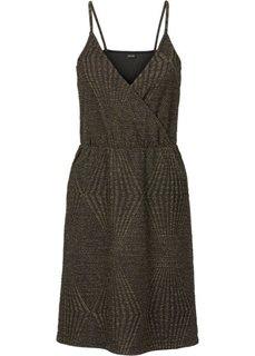 Трикотажное платье (черный/золотистый) Bonprix