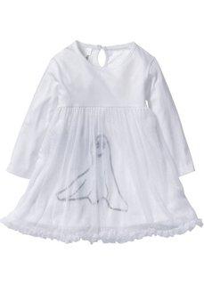 Платье с тюлем для Хэллоуина (белый с рисунком) Bonprix