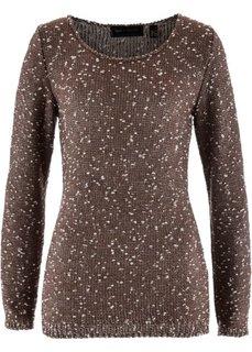 Пуловер (коричневый/золотистый меланж) Bonprix