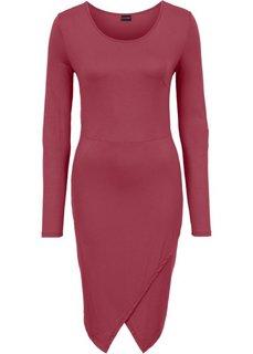 Трикотажное платье с эффектом запаха (бордовый) Bonprix