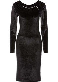 Велюровое платье (черный) Bonprix