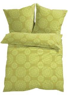 Постельное белье Энья, флис (зеленый) Bonprix