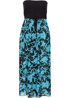 Пляжное платье (черный/бирюзовый) Bonprix