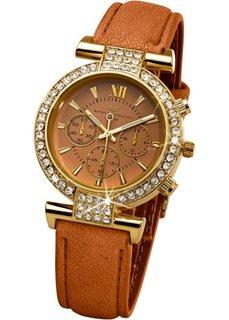 Часы со стразами (коричневый) Bonprix
