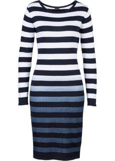 Вязаное платье (темно-синий/белый в полоску) Bonprix