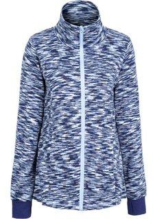 Вязаная флисовая куртка (темно-синий) Bonprix