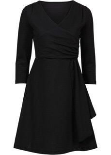 Трикотажное платье с люрексом (черный) Bonprix